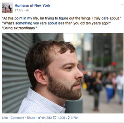 As seen on The Humans of New York Facebook Page